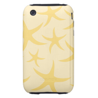 Yellow Starfish Pattern. Tough iPhone 3 Case
