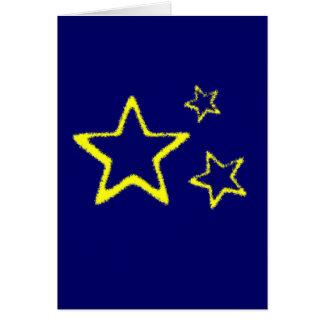 Yellow Stars Cards