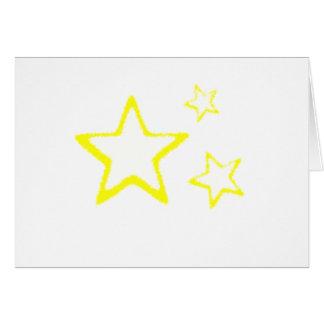 Yellow Stars Greeting Card