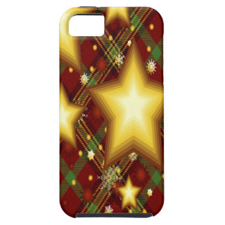 Yellow Stars, Green and Red Background iPhone 5 Covers