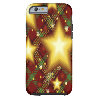 Yellow Stars, Green and Red Background Tough iPhone 6 Case