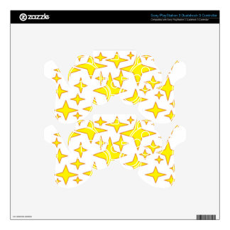 yellow stars.jpg decal for PS3 controller