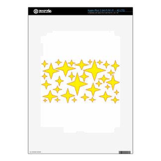 yellow stars.jpg decals for iPad 3