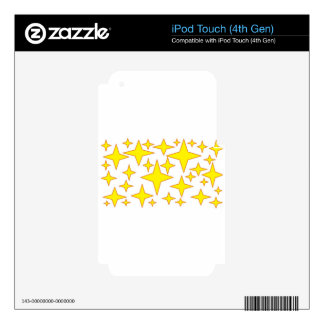 yellow stars.jpg iPod touch 4G decal