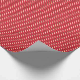 Yellow Stars on Red Vintage Pattern Wrapping Paper