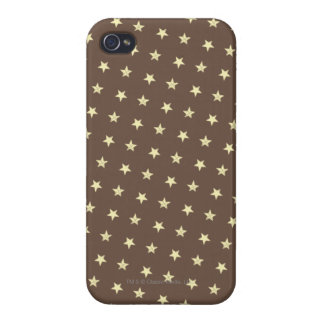 Yellow Stars Pattern Case For iPhone 4