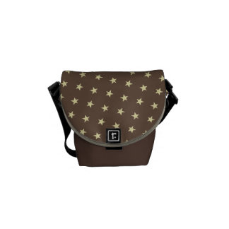 Yellow Stars Pattern Courier Bag