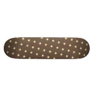 Yellow Stars Pattern Skateboard Deck