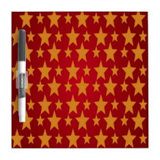 Yellow Stars , Red Dry-erase Board at Zazzle