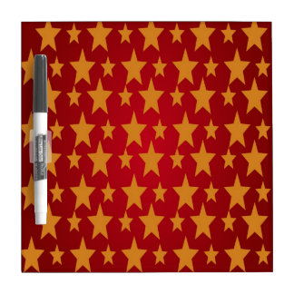 Yellow Stars , Red Dry-Erase Board