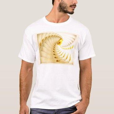 Beach Themed Yellow Stars Sheet Music Seashells Sunrise Beaches T-Shirt