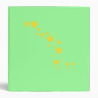 Yellow Stars Vinyl Binders