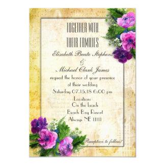 "Yellow - Steam Punk - Wedding -Semi-Gloss 5"" x 7"" Card"