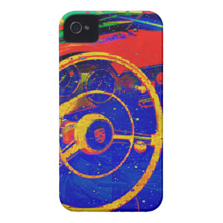 Yellow Steering Wheel Abstract iPhone 4 Covers