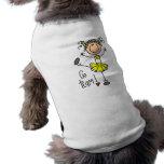 Yellow Stick Figure Cheerleader T-shirts and Gifts Doggie Tshirt