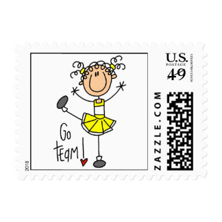 Yellow Stick Figure Cheerleader T-shirts and Gifts Postage