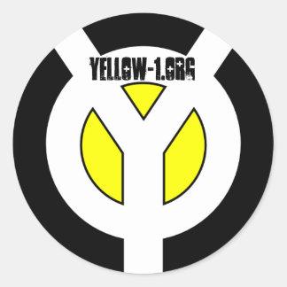 Yellow Stick Classic Round Sticker