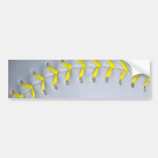 Yellow Stitches Baseball / Softball Bumper Sticker