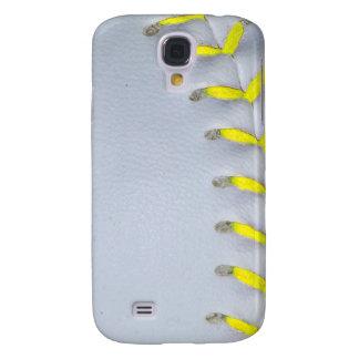 Yellow Stitches Baseball / Softball Galaxy S4 Cover
