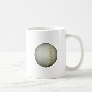 Yellow Stitches Baseball / Softball Classic White Coffee Mug
