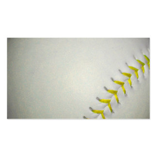 Yellow Stitches Baseball / Softball Double-Sided Standard Business Cards (Pack Of 100)