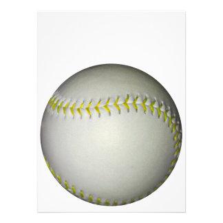 Yellow Stitches Baseball / Softball Invite