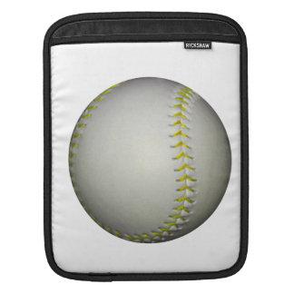 Yellow Stitches Baseball / Softball iPad Sleeve