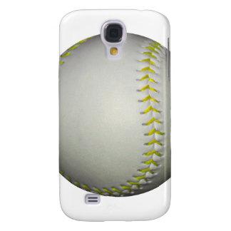 Yellow Stitches Baseball / Softball Samsung Galaxy S4 Cover
