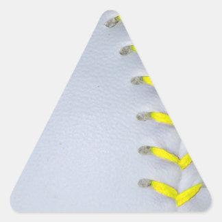 Yellow Stitches Baseball / Softball Triangle Sticker