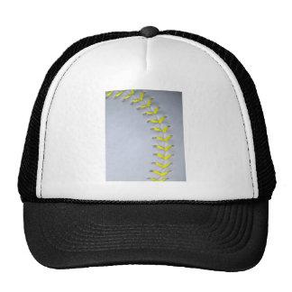 Yellow Stitches Baseball / Softball Trucker Hat