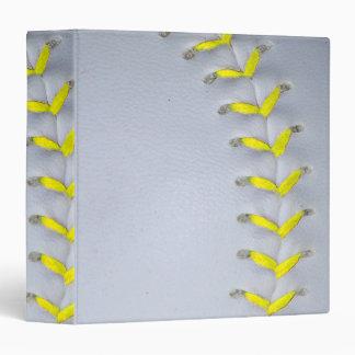 Yellow Stitches Softball / Baseball Binder