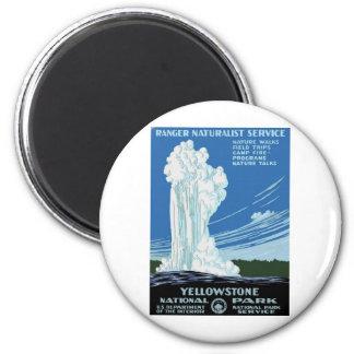 Yellow Stone Park - Old Faithful Geyser Fridge Magnet