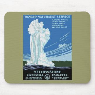 Yellow Stone Park - Old Faithful Geyser Mouse Pad