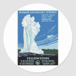Yellow Stone Park - Old Faithful Geyser Stickers