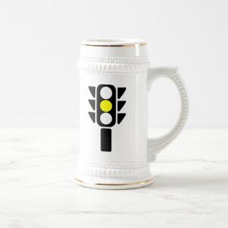 Yellow Stoplight Beer Stein