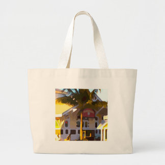 Yellow Store in Key West Large Tote Bag