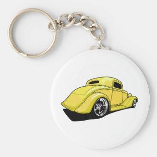 Yellow Street Rod Keychain