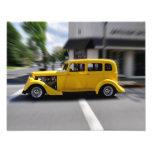 Yellow Street Rod Photo Print
