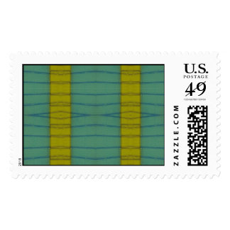 yellow stripe abstract postage