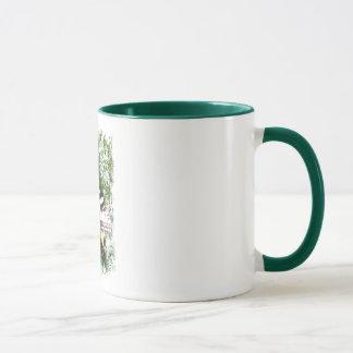 Yellow stripe butterfly mug #2