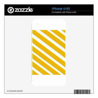 Yellow stripe diagonal chevron mustard decal for the iPhone 4