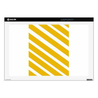 Yellow stripe diagonal chevron mustard decal for laptop