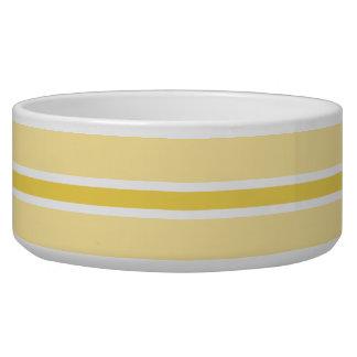 Yellow Stripe Large Pet Bowl