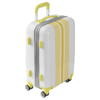 Yellow Stripe Luggage Suitcase