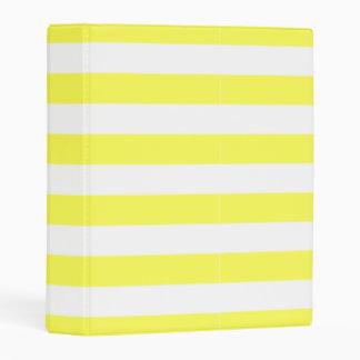 Yellow Stripe Mini Binder