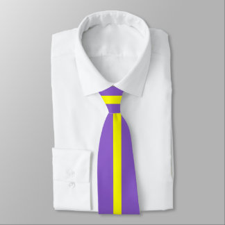 Yellow Stripe on Ultra Violet or (Your Color) Tie