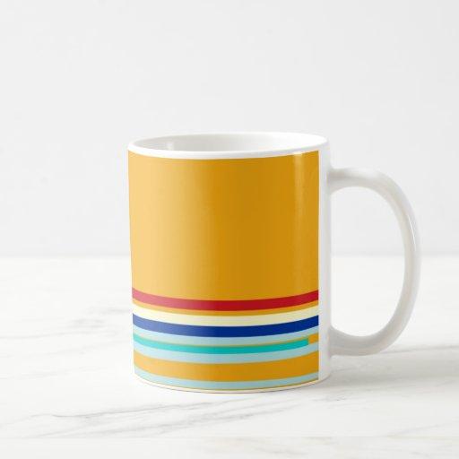 Yellow Striped >Colourful Coffee Mug