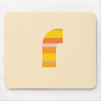 Yellow Striped Monogram - Letter R Mouse Pad