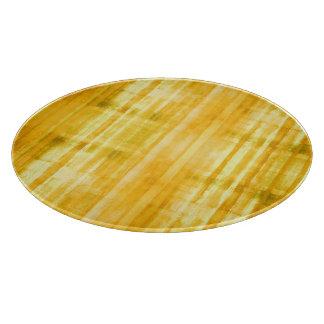 Yellow Striped Pattern Cutting Boards