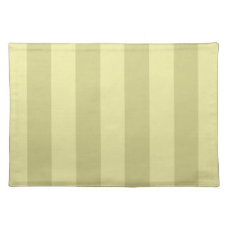 Yellow Striped Pattern Placemats